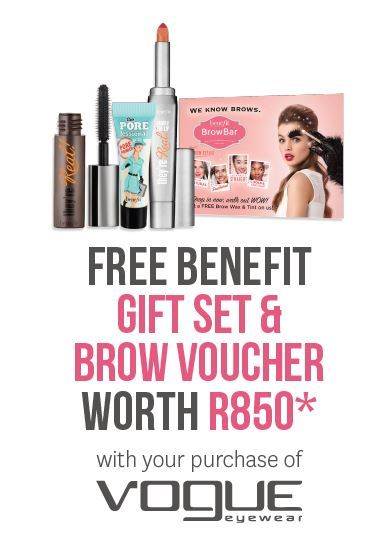 Get a Free Gift Set with your purchase of Vogue Eyewear
